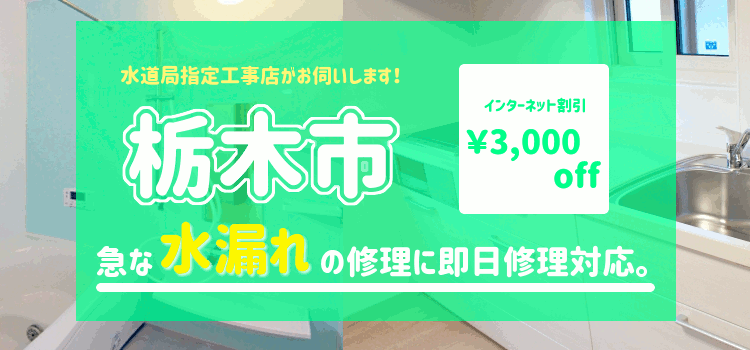 栃木市 水漏れ修理(風呂 台所 蛇口 トイレ シャワーの漏水)