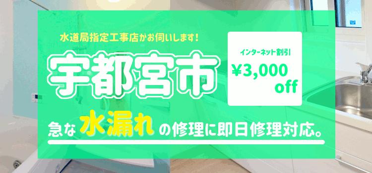 宇都宮市 水漏れ修理【 蛇口 トイレ 水道 シャワーの漏水】